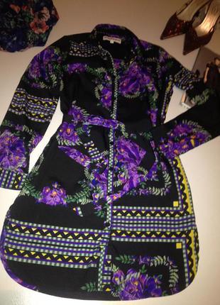 Рубашка блуза туника с принтом.1097