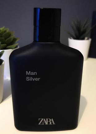 Zara silver духи туалетная вода для мужчин