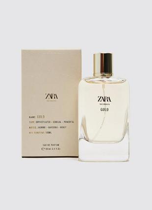 Zara woman gold духи парфюмерия туалетная вода