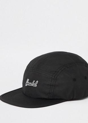 Бейсболка пятипанелька herschel glendale black кепка