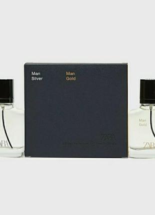 Zara gold  silver духи парфюмерия туалетная вода