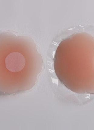 Накладки наклейки силиконовые для груди на соски загара под пл...