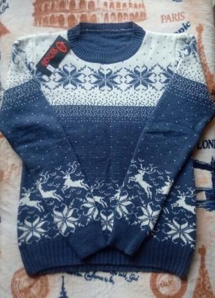 Новый теплый женский свитер Турция 70% шерсть, р-р M/L