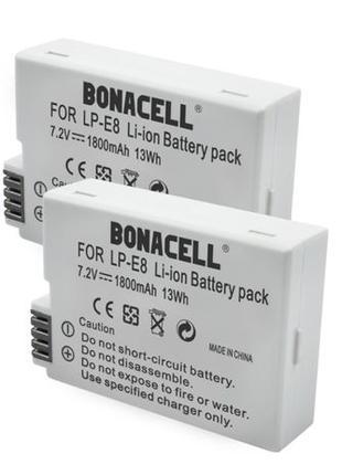 Батарея LP-E8 1800 mAh для Canon EOS 550D 600D 650D 700D Rebel...