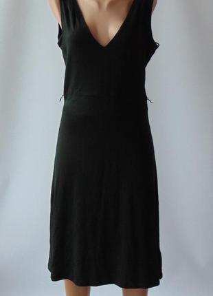 Черное трикотажное платье сарафан mexx л\хл