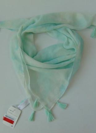 Детский легкий нежный шарф платок с кисточками c&a германия