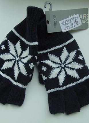 Перчатки митенки без пальцев terranova