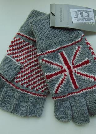 Перчатки митенки без пальцев terranova уценка