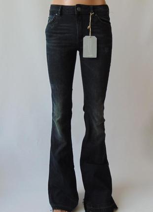 Темно-синие джинсы клеш clockhouse c&a германия евро 34