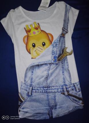 Забавная футболка девочке-150-156-