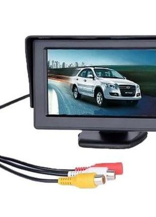 """Автомобильный монитор камеры заднего вида 4.3"""" машин авто"""