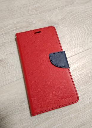 Xiaomi Redmi Note 5a Prime чехол книжка с хлястиком красный