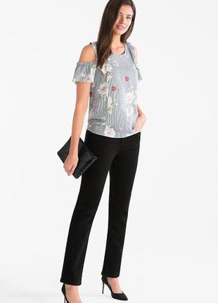 Черные прямые джинсы the straight jeans c&a германия  евро  42