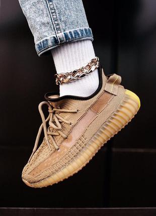 Adidas yeezy boost 350 шикарные кроссовки адидас изи горчичный...