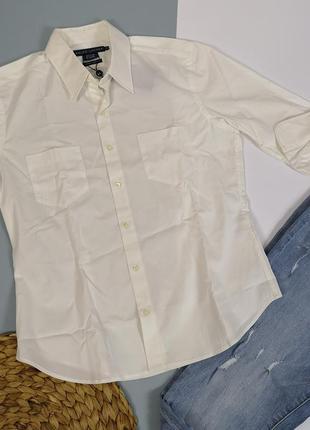 Новая белая рубашка ralph lauren slim fit размер l