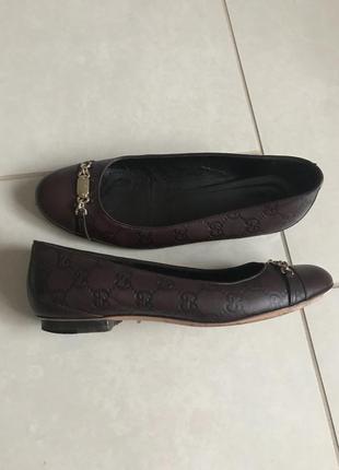 Туфли кожаные оригинал gucci размер 38