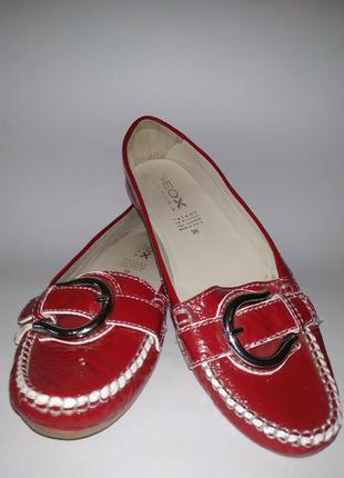 Geox respira туфли, лаковые туфли, кожаные балетки,
