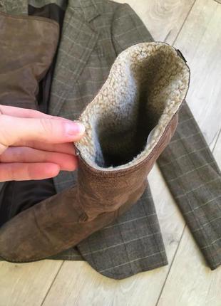 Кожаные сапоги belissimo{ ботинки} италия
