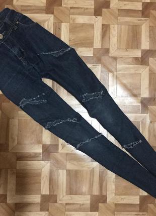 🌿 крутые  рваные джинсы/скинни