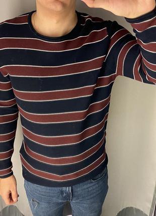 Свитер в полоску пуловер smog есть размеры
