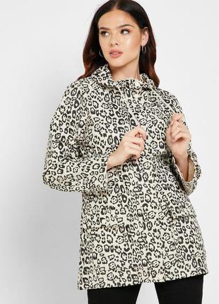 Куртка бежевая  плащ от dorothy perkins с леопардовым принтом