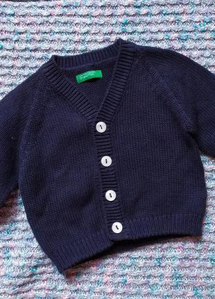 Benetton! дорогая кофта на стильного малыша 0-2 мес