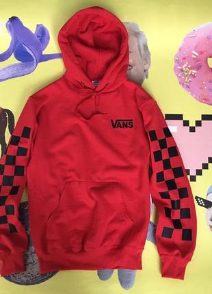 Красный худи vans • красная кофта ванс•топ качество