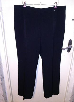 Стрейч,классические-повседневные,чёрные брюки,большого размера...