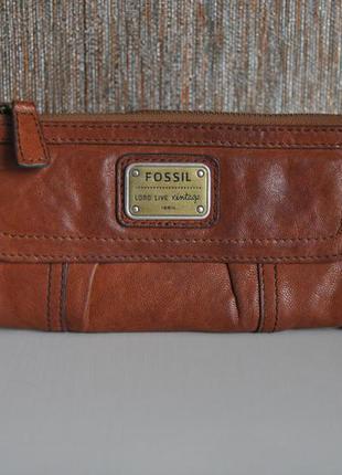 Кожаный кошелек fossil / шкіряний гаманець