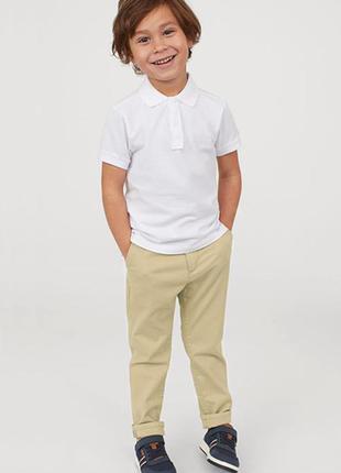 Хлопковые брюки-чиносы от бренда h&m разм. 110(4-5лет)
