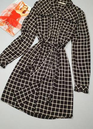 Платье-рубашка в клетку на пуговицах f&f p.14