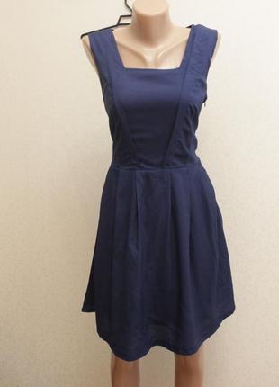 Платье, платье миди,синее платье