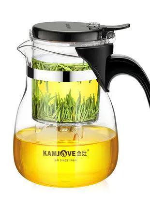 Чайник заварочный с кнопкой Kamjove TP-757, 700 мл