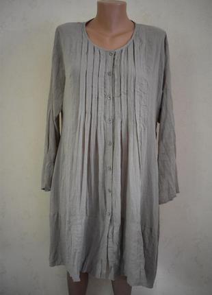 Легкое платье-туника большого размера
