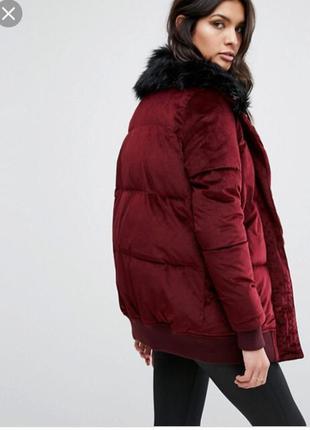 Куртка пальто бархатная демисезон удлинённая