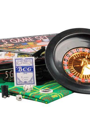 Игра настольная Рулетка 33х29 см 5 в 1 441-007