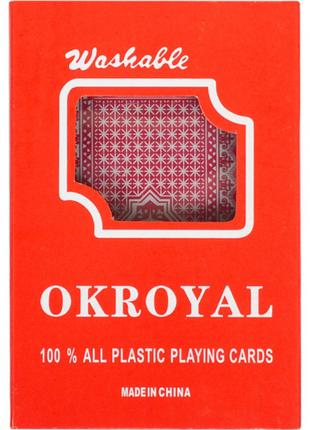"""Карты игральные пластиковые """"OKROYAL"""" 95306, 54 карты"""