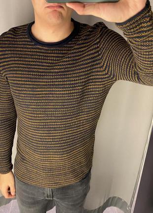 Хлопковый свитер в полоску пуловер smog есть размеры