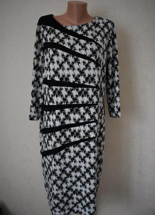 Теплое красивое платье с принтом большого размера roman