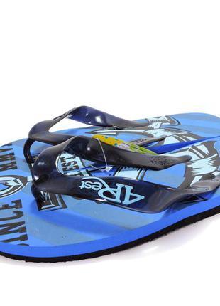 12-164 мужские пляжные вьетнамки. синие. 29,5 см