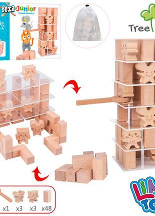 Дерев'яна іграшка Гра MD 1585 Вежа, блоки 48шт., фігурки, інст...