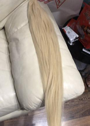 Волосы для наращивания блонд люкс