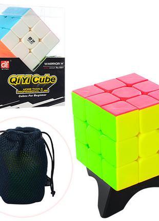 Кубик 5001K 6-6-6см, на подставке, в чехле, в кор-ке, 9-13-6,5см
