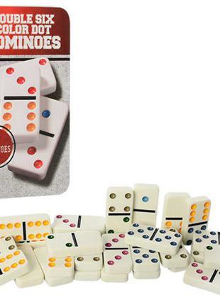 Настольная игра домино 501070 в металлической коробочке