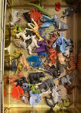 Набор фигурки животных малюсенькие набор 45 штук