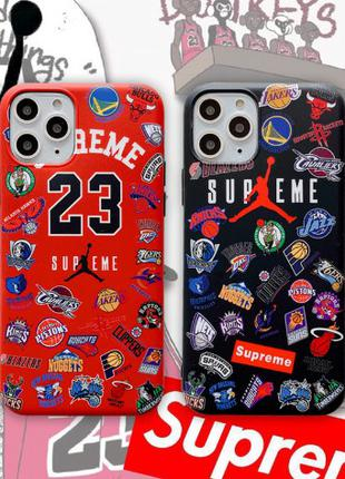 Чехол Jordan NBA/Supreme для  iPhone 6/6s/7/8/X/Xs/XR/7plus/8Plus