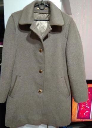 Плюшевое натуральное пальто ( германия ) l ка