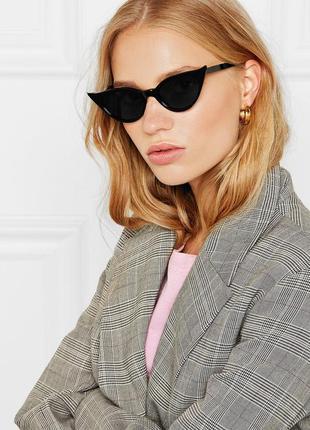 4-1 ультрамодные солнцезащитные очки кошачий глаз