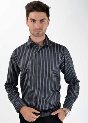 Рубашка  цвет серо-черный размер l