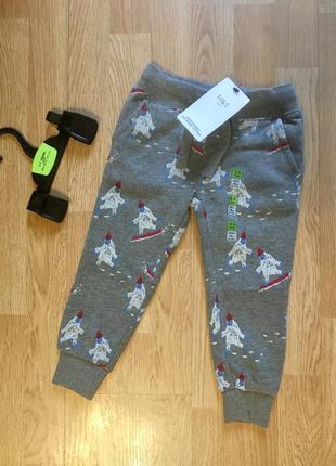 Спортивные штаны на флисе, джоггеры для мальчика, marks&spence...
